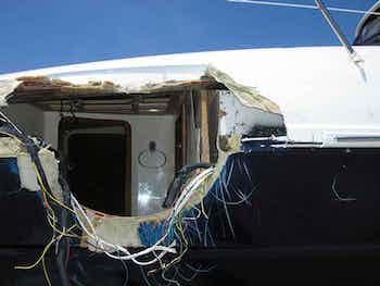 Boat Damage Before