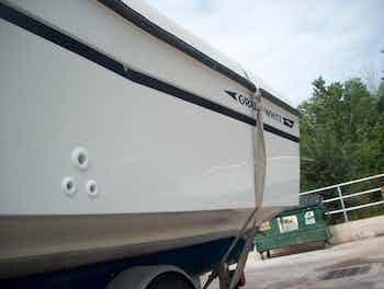 Boat Damage After